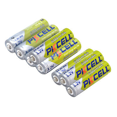 Lot 1.2V NiMH AA 600mAh Ni-Mh Rechargeable Battery for Home Garden Solar Lights