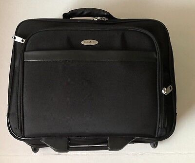 9db399692ca90b Samsonite Bag Laptop Suitcase 5 Zipper Roller Pilot Travel Black Luggage