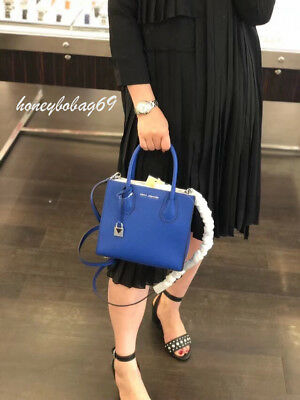 6cc1e9c996f2 NEW MK Michael Kors Studio Mercer Medium Messenger Crossbody Bag Electric  Blue