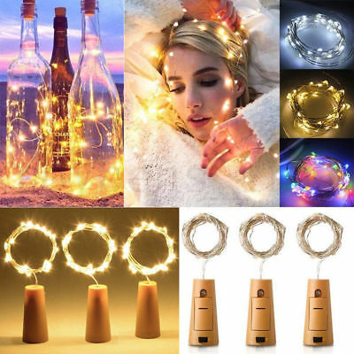 6x 10 LED Copper Wire Fairy String Lights Wine Bottle Cork Wire Party Xmas Decor