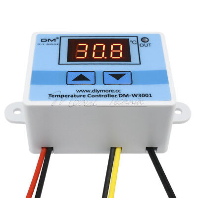220V 10A Digital W3001 LED Temperature Controller Thermostat Control Switch