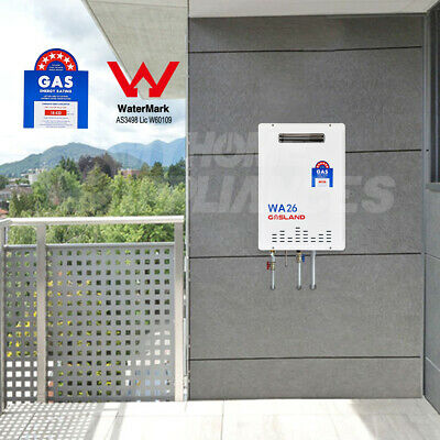 GASLAND 26 Litre Instant Continuous NG Gas Hot Water Heater 6 STAR Flow System