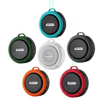 Portable Bluetooth Wireless Speaker w/ Built-in Mic Water Resistant Suction-Gift