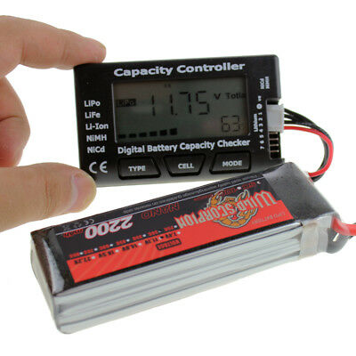 CellMeter-7 Digital Battery Capacity Checker LiPo LiFe Li-ion for RC helicopter