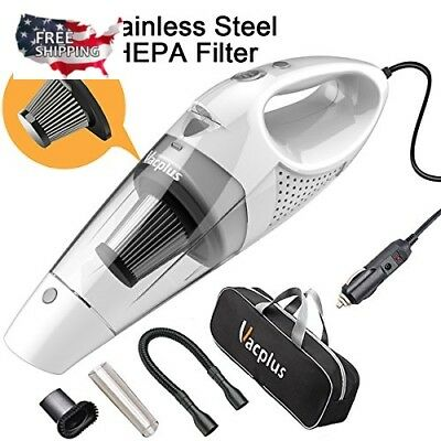Car Vacuum Cleaner 12V Auto Mini Hand held Wet Dry Small Portable with Filter