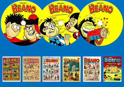 Beano Comic + Annuals + Specials  On Three DVD Rom's