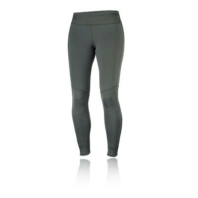 Salomon Damen Elevate Wärmend Training Gym Fitness Leggings Fitnesshose Grau