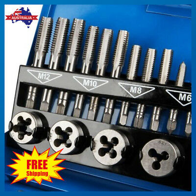 32Pcs Screw Screwdriver Thread Tap and Die Set Wrench Hand Drill Tool Kit Metric