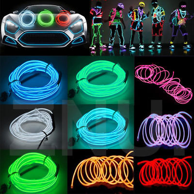 5M USB Controller Luminescent Neon LED Lights Glow EL Wire String Strip Rope