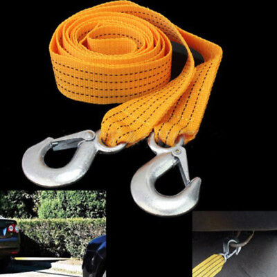 Car Road Tow Rope Cable Towing Strap Emergency Heavy Duty 3 Tons New.