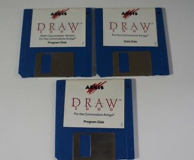 Aegis Draw 2000 - Amiga on 3.5 Floppy Disks - edc