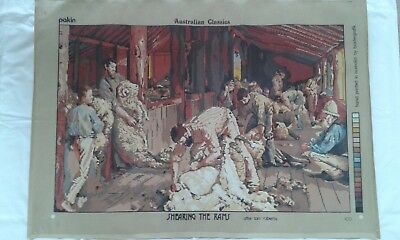 Tapestry New Unworked Shearing The Rams, Australian Classic