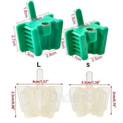 Silicone Dental Latex Mouth Prop Bite Blocks Rubber Opener Retractor Clear L/S