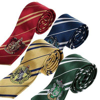 Harry Potter Gryffindor Slytherin Hufflepuff Tie For Fancy Dress Costume Cosplay