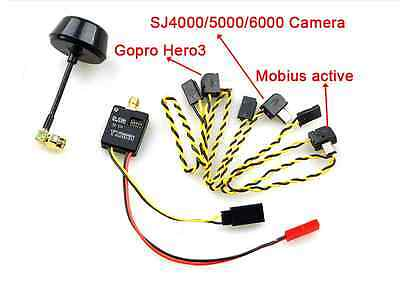 New  FPV 5.8ghz 5.8G 600mW Audio Video AV Transmitter for Gopro Hero3 Mobius80