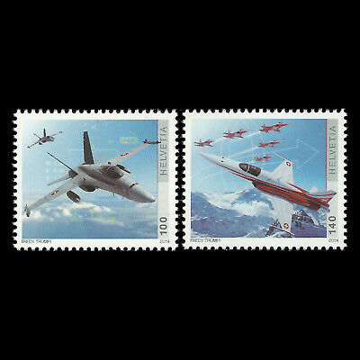 Schweiz 2014 - 100th Jubiläum der Swiss Air Force - Sc 1512/3 MNH
