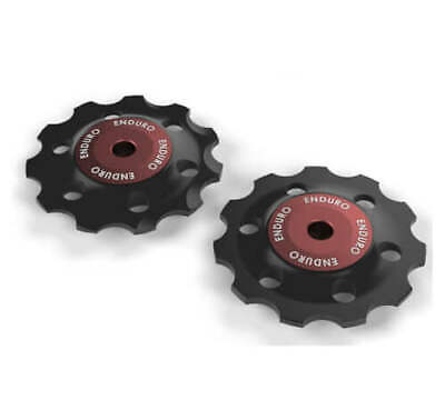 Bkcj-0150 - Jockey Wheel Set Zero Cer.campy 11V Red