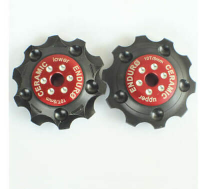 Bkcj-0120 - Jockey Wheel Set Zero Cer.campy 10V Red
