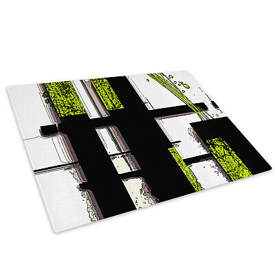 Green Black White Cool Glass Chopping Board Kitchen Worktop Saver Protector