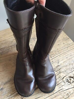 Russell & Bromley Girls Brown Leather Boots Eur27