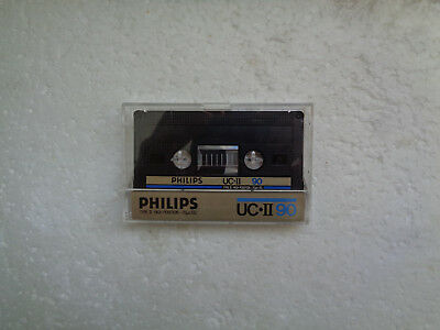 Vintage Audio Cassette PHILIPS UC*II 90 * Rare From 1984 * Unsealed