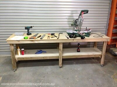Work Bench, Work Table ,Side Table on wheels (CUSTOM MADE)