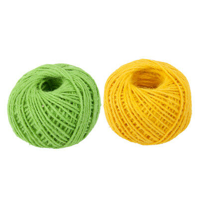 2x 50m Wrap Gift Jute Rope Ribbon Twine Rope Cord String Ball 2mm Jute Cord