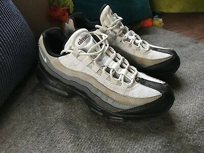 size 40 3b593 12e8b ... new style nike air max 95 boys mens trainers size uk 7 us 8 grey white
