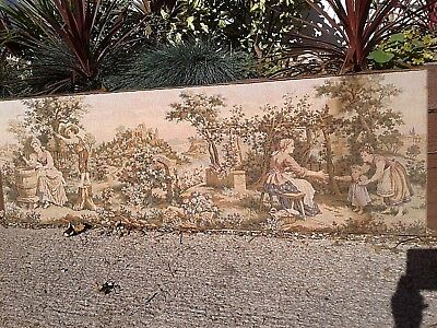 Large Vintage Italian Woven Tapestry Framed Wall Hanging
