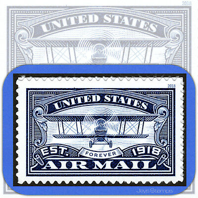 2018  Blue  AIR MAIL CENTENARY  Mint USPS Forever®  Individual Stamp  Cat # 5281