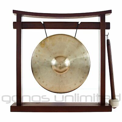 "7"" to 8.5"" Gongs on the Pretty Chill Gong Stand"