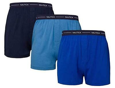 Nautica Men's 3 Pack Boxer Modal Cotton Fit Boxer /M/ Navy- Sky Blue- Dark Blue