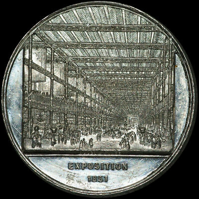 LONDON: Zinn-Medaille 1851. GREAT EXPOSITION - WELTAUSSTELLUNG - CRYSTAL PALACE.