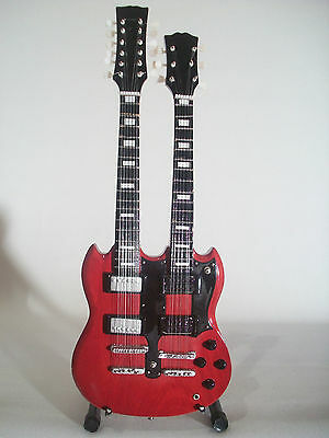 Guitare miniature SG double manche Jimmy Page Led Zeppelin