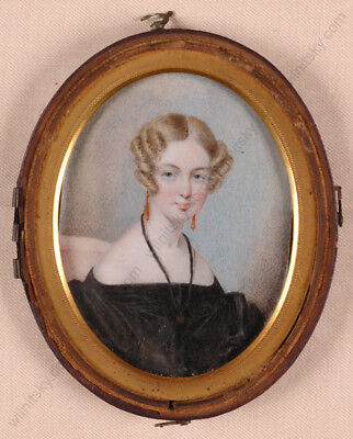 """Portrait of a Young Lady"", English miniature, 1st half of 19th century"