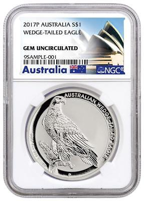 Australien - 1 Dollar 2017 - Wedge-Tailed Eagle - NGC - GEM - 1 Oz Silber ST
