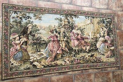 Antique French Aubusson Style Wall Hanging Tapestry - 80 X 154 Cm