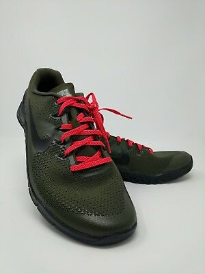 Nike iD Metcon 4 Training Shoes Men s Size 10.5 AR5135-991 Military Green  Black ad24eed77
