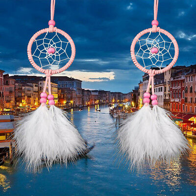 Car Pink Dream Catcher Girls Dreamlike Feather Dreamcatcher Home Room Decor L