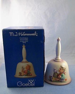 MJ Hummel Bell ~ Goebel First Edition Annual Bell 1978 With Box