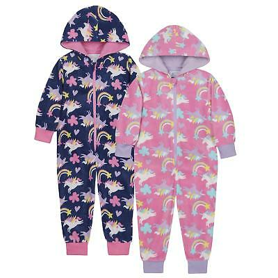 Childrens / Girls Unicorn Print Onezee / Sleepsuit ~ 2-6 Years