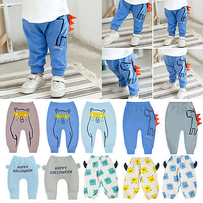 Toddler Kids Casual Loose Pants Autumn Cartoon Animal Flare Cotton Soft Trousers
