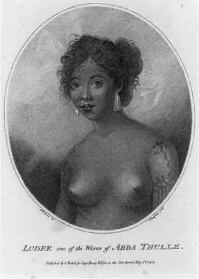Photo:Ludee,one of the wives of Abba Thulle,breasts,1788,woman