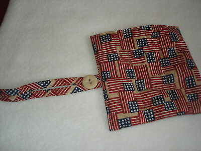 Longaberger garter  American flags handle gripper