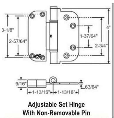 S4003 - Adjustable Set Door Hinge
