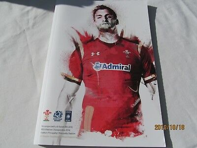 Wales v Scotland. Rugby Union. 2016. Programme + Event Tickets
