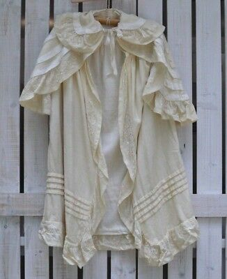Antique Victorian Edwardian era Baby Cape Cloak Childs Christening Coat