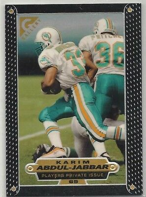 1997 Topps Gallery NFL FB Players Private Issue #65 Karim Abdul-Jabbar, Dolphins