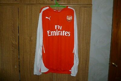 Arsenal Puma Football Shirt Long Sleeve Home 2014 2015 Jersey Soccer Size XL 2a6d082d1