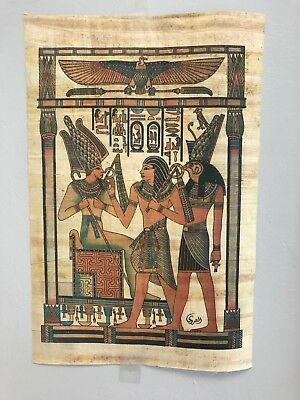 "Egyptian Kings Papyrus Original Hand Painted Made in Egypt 11.5'' X 8"" FREE SHIP"